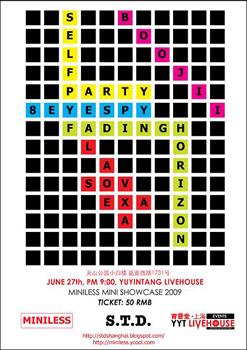 Miniless 2009 showcase flyer